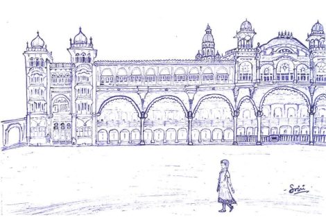 A view of MysorePalace